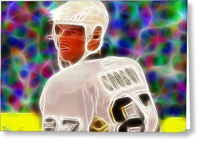 Magical Sidney Crosby Greeting Card by Paul Van Scott