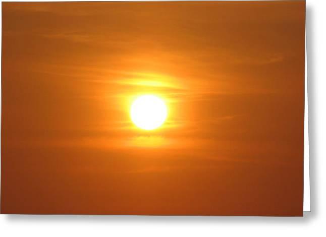 Magical Sun Greeting Card by Gal Moran