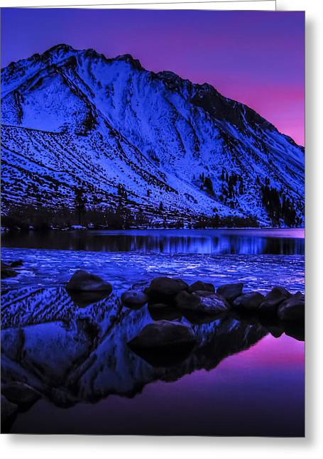 Magical Sunset Over Mount Morrison And Convict Lake Greeting Card
