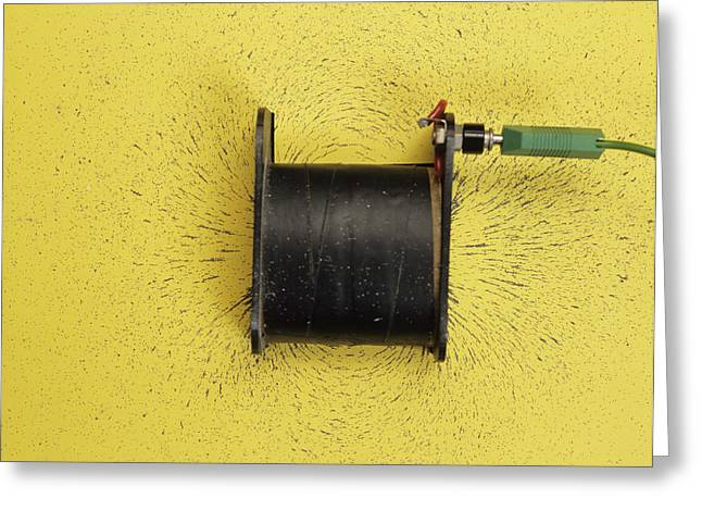 Magnetic Field Of A Solenoid Greeting Card by Andrew Lambert Photography