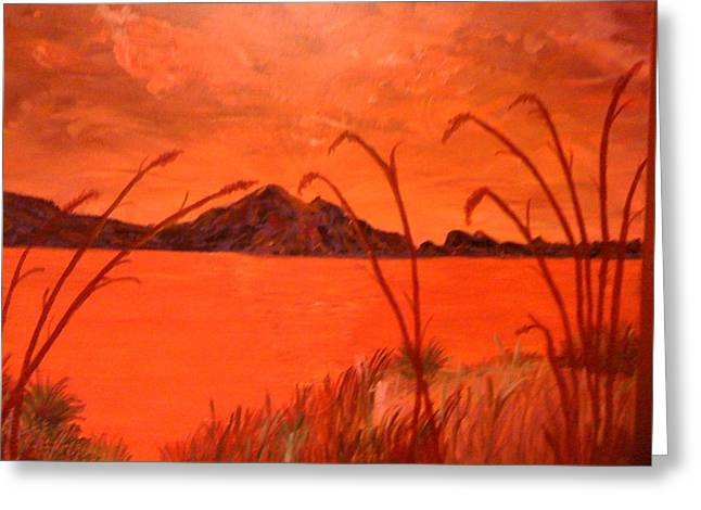 Greeting Card featuring the painting Magnetic Island Sunset by Judi Goodwin