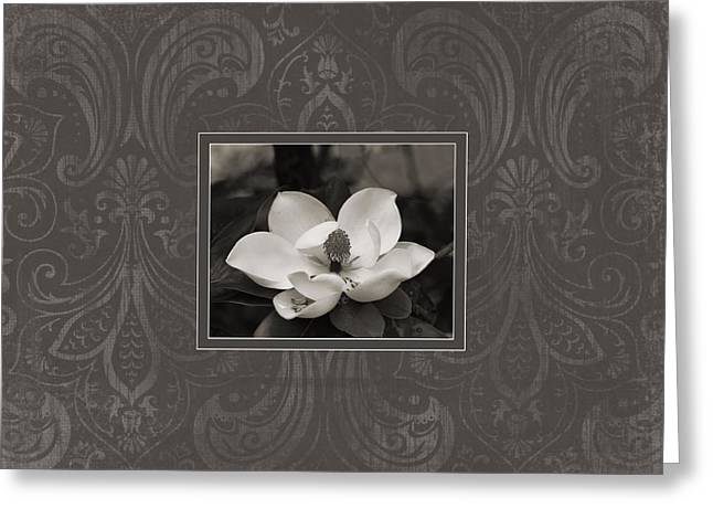 Magnolia Art Greeting Card by Mary Hershberger