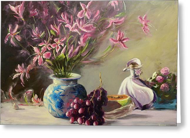 Magnolias Greeting Card by Thomas Kearon