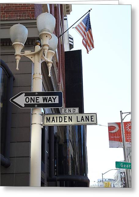 Maiden Lane San Francisco Greeting Card