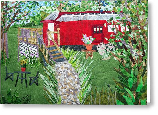 Mail Car Guest House At Lacaboose B And B Greeting Card by Charlene White