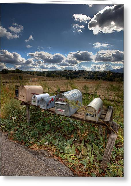 Mailboxes  Greeting Card by Peter Tellone