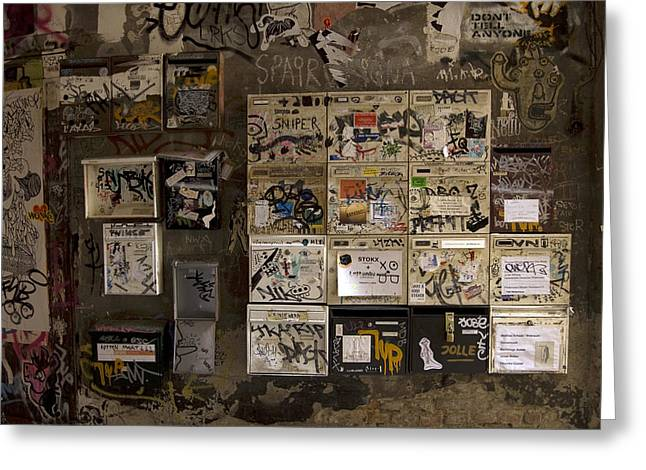 Mailboxes With Graffiti Greeting Card by RicardMN Photography
