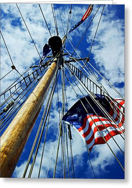 Greeting Card featuring the photograph Main Rigging by Randall  Cogle