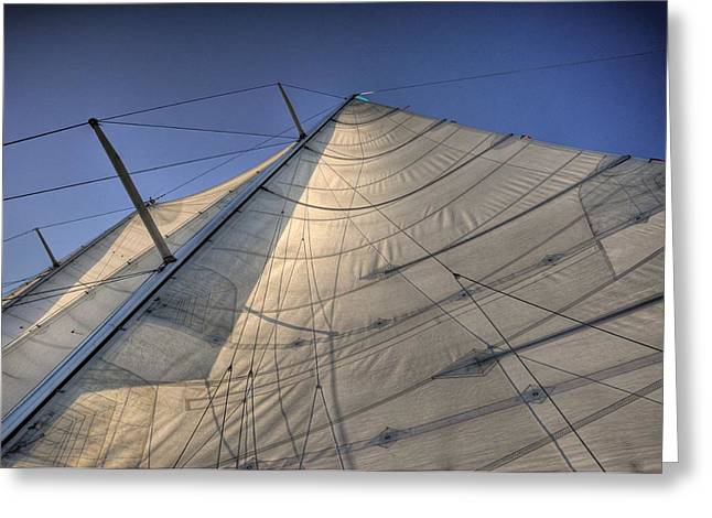 Main Sail Greeting Card by Barry R Jones Jr