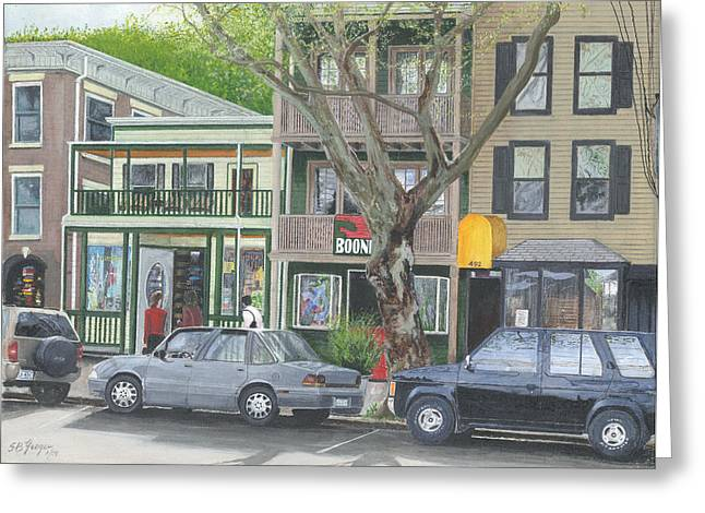 main st so Piermont NY Greeting Card