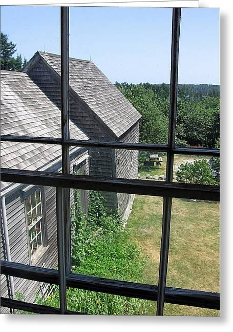 Maine Window Greeting Card by J R Baldini M Photog Cr