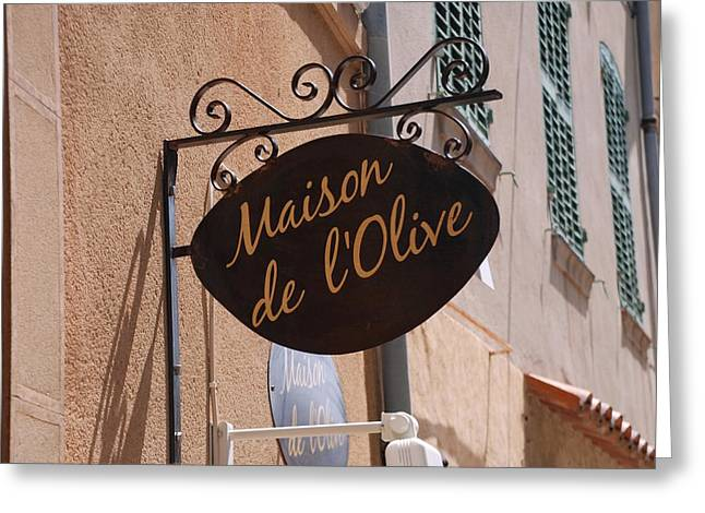 Maison De L'olive Greeting Card by Dany Lison