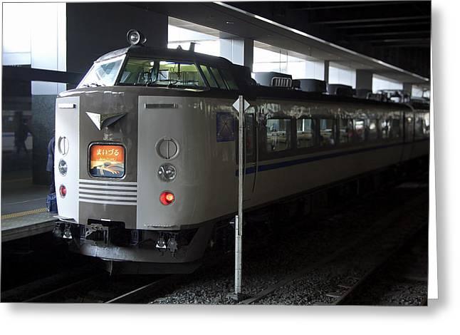 Maizuru Electric Train - Kyoto Japan Greeting Card by Daniel Hagerman