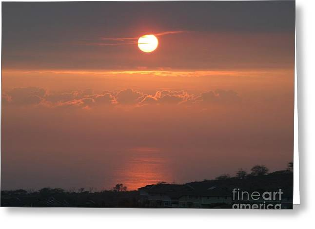 Makakilo Sunset Greeting Card