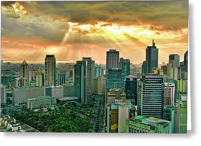 Makati City Skyline Greeting Card