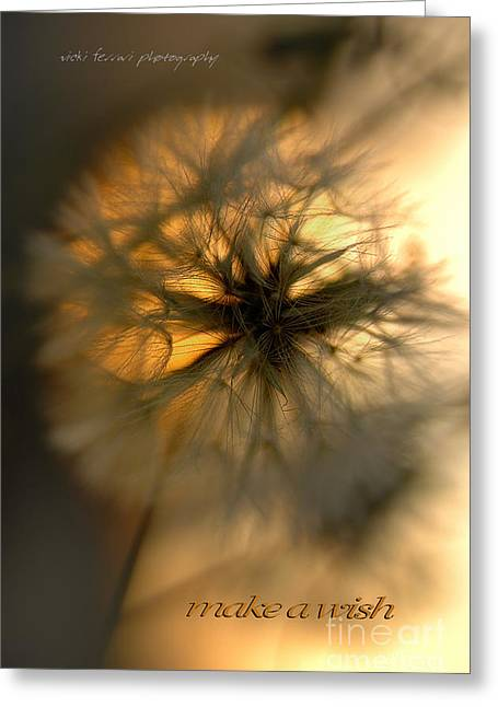 Make A Wish Greeting Card by Vicki Ferrari