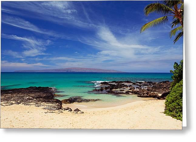 Makena Cove Maui Greeting Card