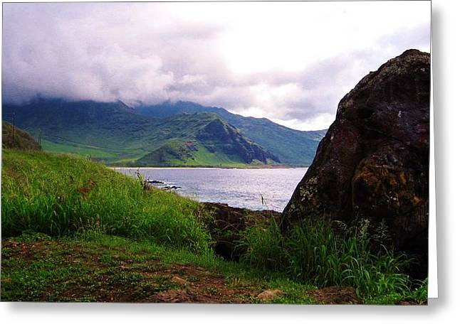 Greeting Card featuring the photograph Makua Seen From Yokohama Beach by Craig Wood