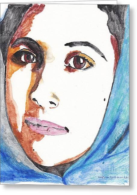 Malala. Greeting Card