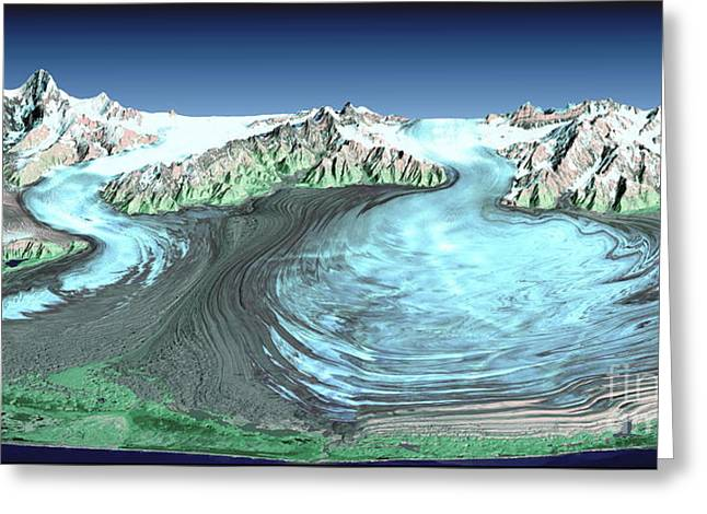 Malaspina Glacier, Alaska Greeting Card