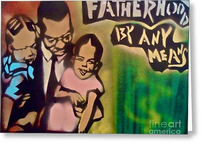 Malcolm X Fatherhood 1 Greeting Card