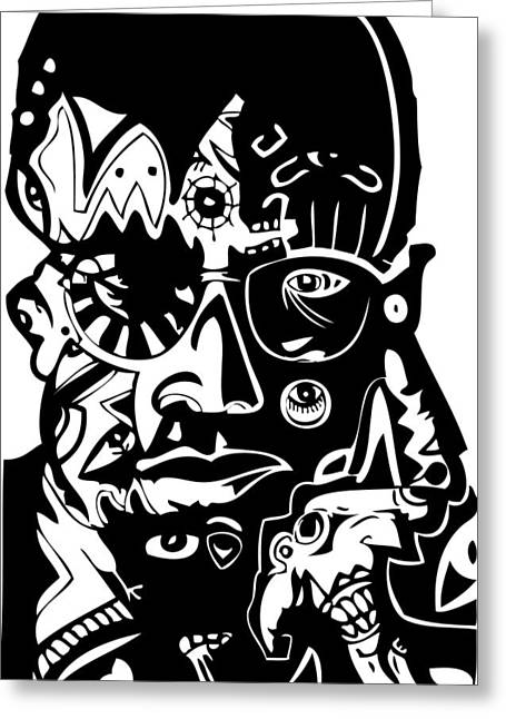 Malcolm X Greeting Card by Kamoni Khem