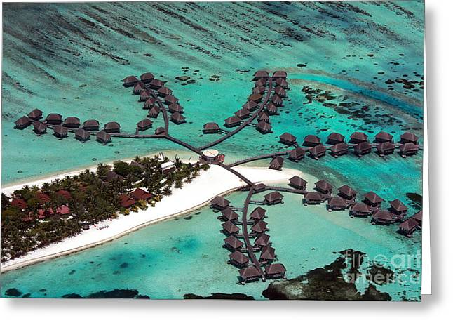 Maldives Aerial Greeting Card by Jane Rix