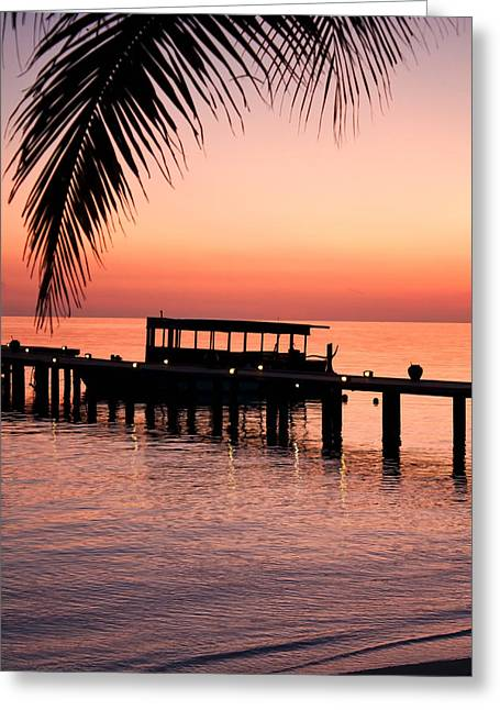 Greeting Card featuring the photograph Maldives Sunrise by Shirley Mitchell