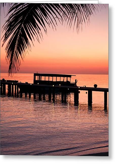 Maldives Sunrise Greeting Card by Shirley Mitchell