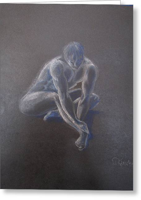 Male Figure In Contemplation Greeting Card