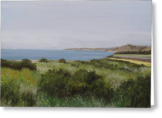 Malibu Bluffs Greeting Card by Cristin Paige
