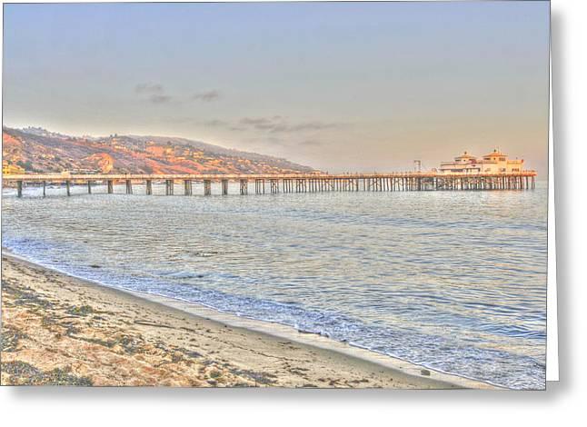 Malibu Pier North Greeting Card