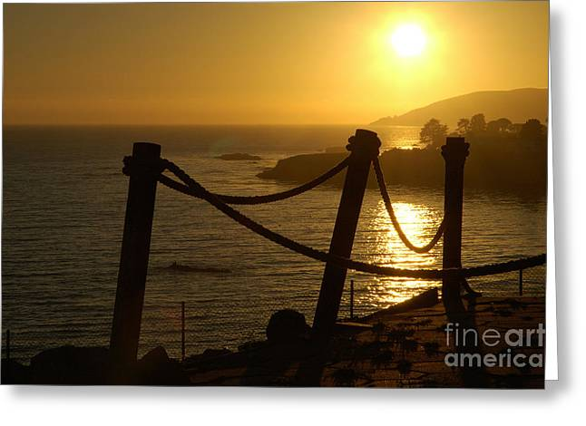 Malibu Sunset Greeting Card by Micah May