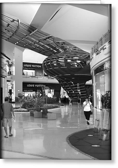 Mall Life Iv Greeting Card by Ricky Barnard