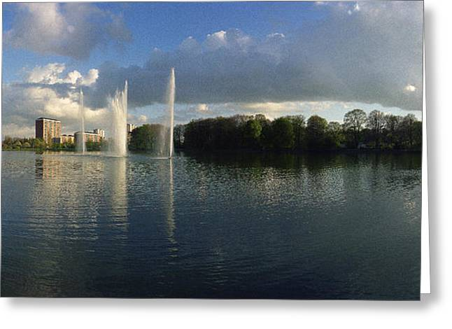 Malmoe Fountains Greeting Card by Jan W Faul