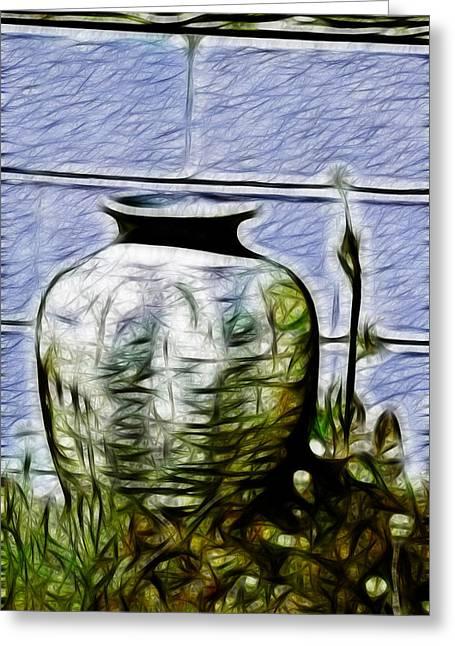 Mamas Old Vase Greeting Card