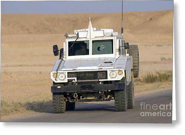 Mamba Armored Personnel Carrier Greeting Card by Terry Moore