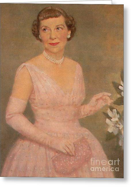 Mamie Eisenhower Greeting Card by Photo Researchers