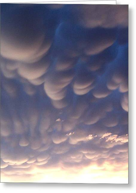 Greeting Card featuring the photograph Mammatus Cumulus by Joan Hartenstein