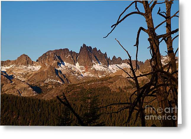 Mammoth Mountain California And Devils Postpile National Monument With Spires Greeting Card by ELITE IMAGE photography By Chad McDermott