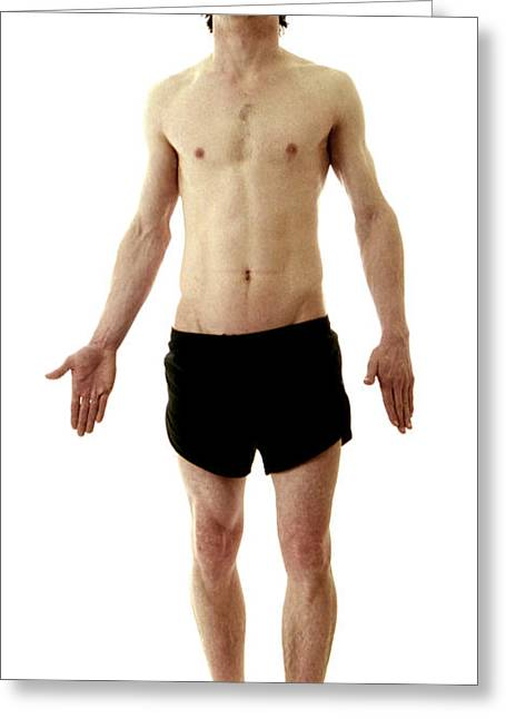 Man In Boxer Shorts Greeting Card by Neal Grundy