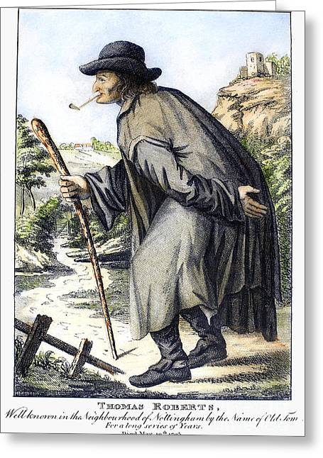 Man With Cane, C1795 Greeting Card by Granger