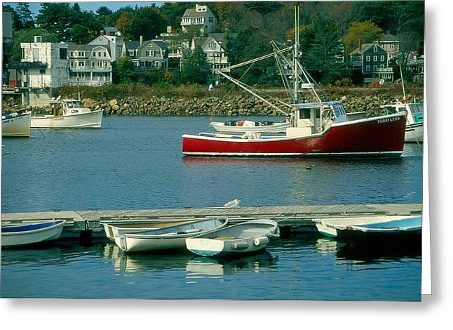 Manchester Harbor Manchester By The Sea Ma   Greeting Card by Stephen Prunier