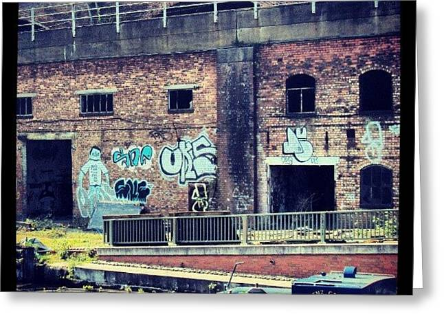 #manchestercanal #manchester #canal #uk Greeting Card