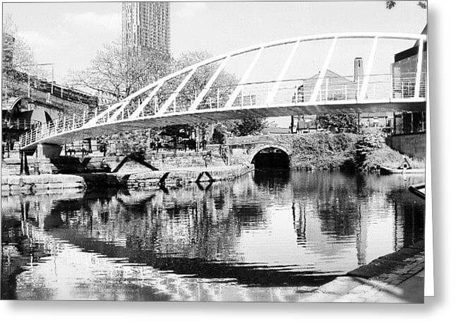 #manchestercanal #manchester #city Greeting Card by Abdelrahman Alawwad