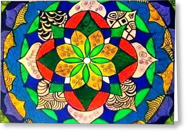 Mandala Circle Of Life Greeting Card