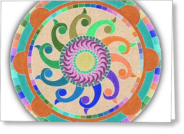 Mandala Meditation 1 V2 Greeting Card