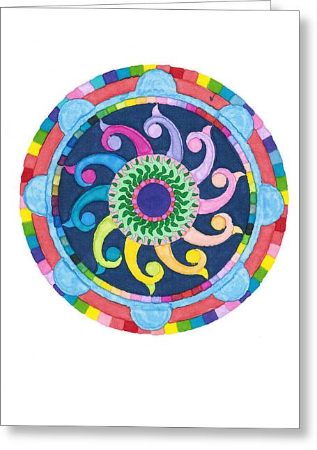 Mandala Meditation I Greeting Card