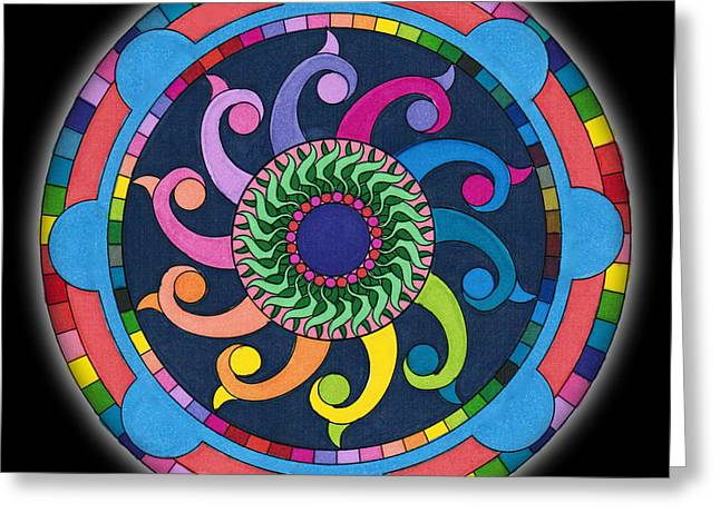Mandala Meditation I V1 Greeting Card