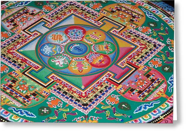 Mandala Greeting Card by Sheila Silverstein